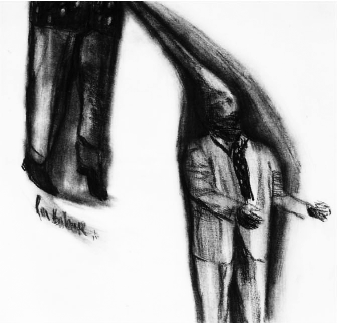 Jimmy was a gentleman, 2002, 30x30cm, crayon on paper