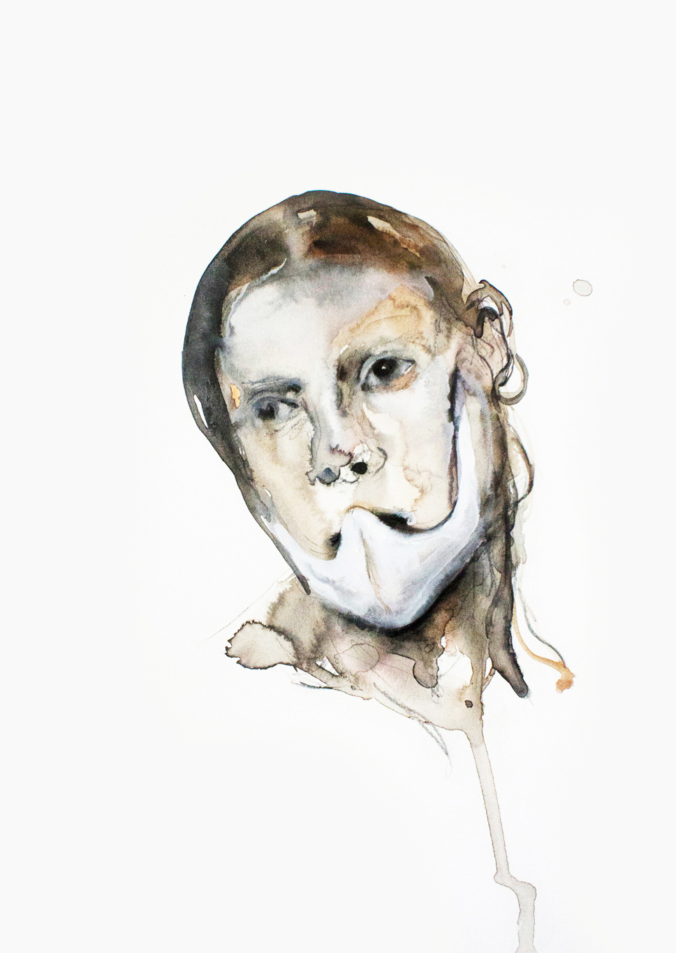 Mask 1, 2013, 40x27cm, watercolor on paper