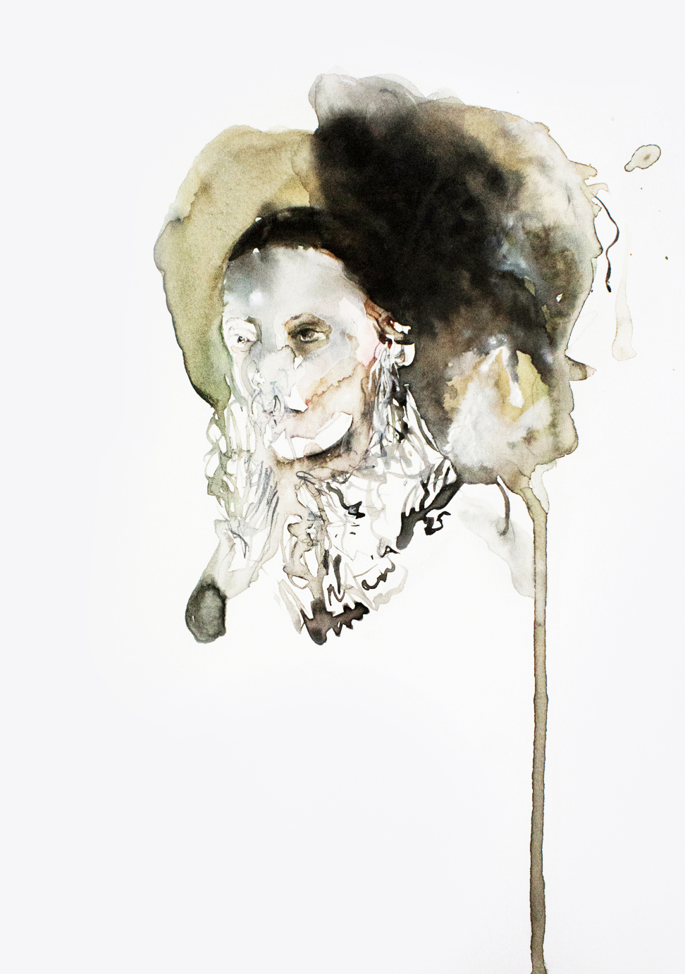 Warrior, 2013, 40x27cm, watercolor on paper