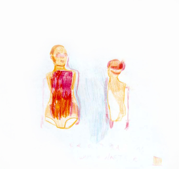 Erotica 3, 2001, 30x30cm, colored pencil on paper