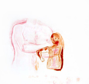 Erotica 4, 2002, 30x30cm, colored pencil on paper