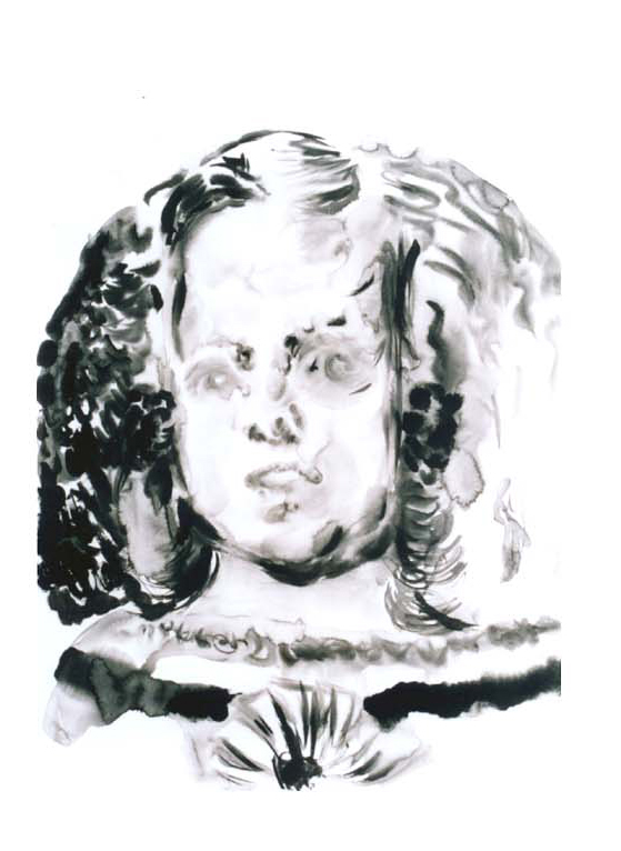 Infanta Margarita Teresa (after Velasquez), 2003, 70x50cm, watercolor on paper