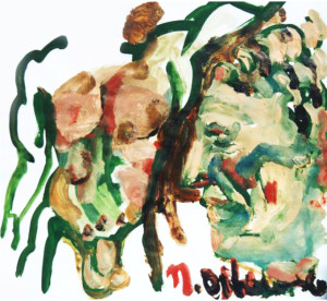The man who was there, 2002, 30x30cm, acrylics on paper