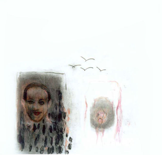 Yesterday, 2002, 30x30cm, colored pencil, crayon, crarcoal on paper